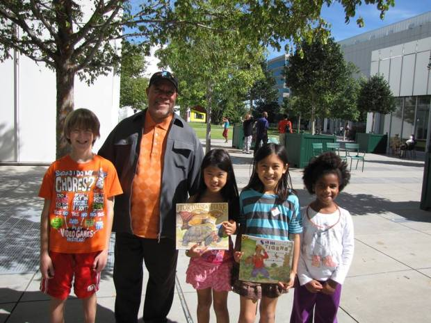 kids with Jerry Pinkney