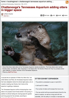 newspaper 091813 otter